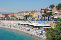Beach Castel - Nice. Beach Castel and the United States Quay in Nice, France - 20 July 2007 Stock Photos