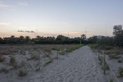 The beach of Castellon Royalty Free Stock Photo