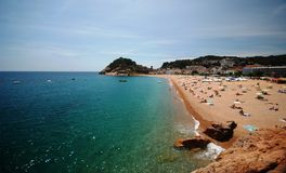 Beach in Catalonia, Spain Royalty Free Stock Photo