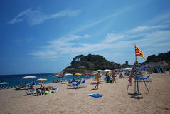 Beach in Catalonia, Spain Royalty Free Stock Photography