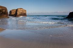 Beach of the cathedrals. Ribadeo, Lugo, Galicia, Spain Royalty Free Stock Image