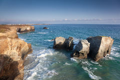 Beach of the cathedrals. Ribadeo, Lugo, Galicia, Spain Royalty Free Stock Images