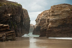 The Beach of the Cathedrals Royalty Free Stock Photos