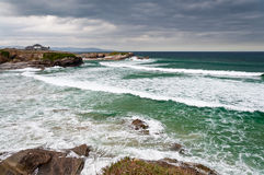 The Beach of the Cathedrals Royalty Free Stock Images