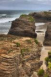 Beach of the Cathedrals. In Galicia, Spain stock photography