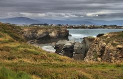 Beach of the Cathedrals. In Galicia, Spain stock photos