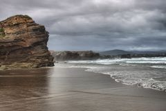 Beach of the Cathedrals. In Galicia, Spain royalty free stock images