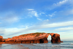 Beach of cathedrals, Galicia, Spain stock photo