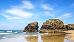 Beach of the Cathedrals. Stock Photography
