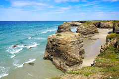 Beach of the Cathedrals. Royalty Free Stock Photography