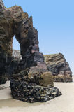 Beach of cathedrals rock formation Stock Photo