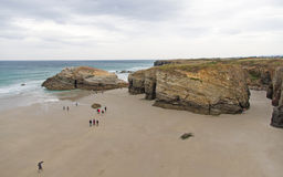 Beach of the Cathedrals in Spain royalty free stock photos