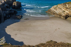 Beach of the Cathedrals in Spain royalty free stock image