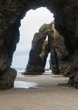 Beach of the Cathedrals Stock Images