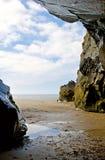 Beach cave Royalty Free Stock Photos