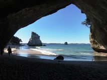 Beach Cave Royalty Free Stock Photography