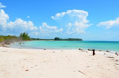 Beach at Cayo Jutías in clouds Stock Photography