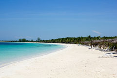Beach of Cayo Las Brujas. Cuba stock photography