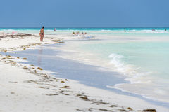 Beach of Cayo Santa Maria, Cuba stock image