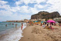 Beach of Cefalu Royalty Free Stock Photo