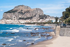 Beach of cefalu, Sicily Stock Image