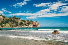 Beach of Cefalu, Sicily Stock Photos