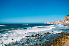 Beach of Cefalu, Sicily Stock Images