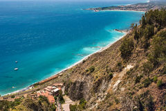 Beach of Cefalu, Sicily Royalty Free Stock Image