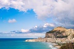 Beach of Cefalu, Sicily Royalty Free Stock Photos