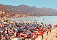 Beach  Of Cefalu, Sicily Stock Photography