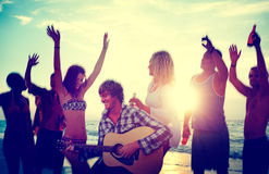 Beach Celebration Happiness People Concept Royalty Free Stock Photos