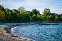 A beach at Centre Island, in Toronto, Ontario. Stock Photo