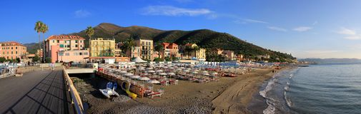 Beach of Ceriale Royalty Free Stock Photos