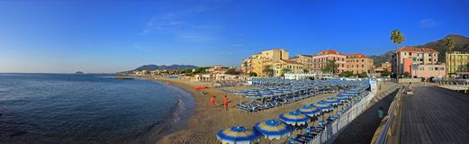 Beach of Ceriale stock images