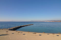 Beach in Ceuta Royalty Free Stock Image