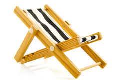 The beach chair. Fancy beach chair isolated on a white background stock photo