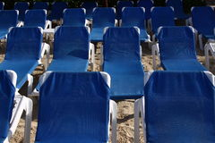 Beach chair. Several beach chairs in mexico Royalty Free Stock Photo