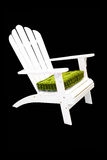 Beach chair. White beach chair isolated included clipping path Stock Image