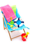 Beach chair Stock Photos