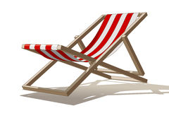 Beach chair. Vector illustration of a deck chair on white background Royalty Free Stock Photos