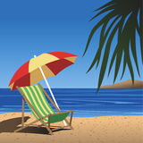 Beach_chair Royalty Free Stock Photo