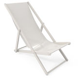 Beach Chair. Isolated on white - 3d illustration Stock Photos
