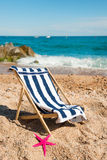Beach chair Royalty Free Stock Photos