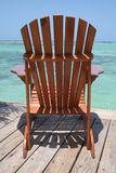 Beach chair. In Boca Chica Royalty Free Stock Image