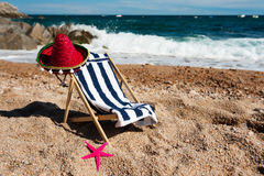 Free Beach Chair Royalty Free Stock Photo - 18801115