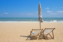 Beach chair. Royalty Free Stock Image
