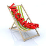 Beach chair with Royalty Free Stock Photo