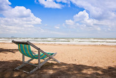 Beach Chair. For Relaxing in Summer Holiday stock photos