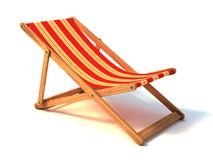 Beach chair. 3d illustration on white Royalty Free Stock Photography