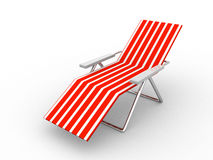Beach chair. 3d render illustration Royalty Free Stock Images